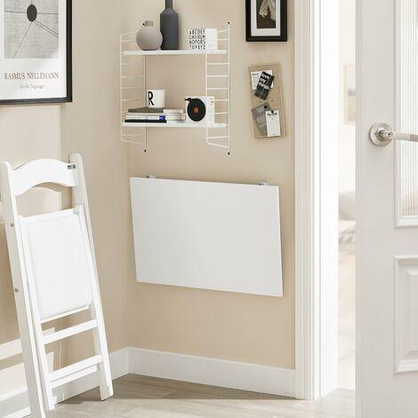 SoBuy FWT21-W,ES Mesa de cocina, mesa plegable de pared, mesa de ...