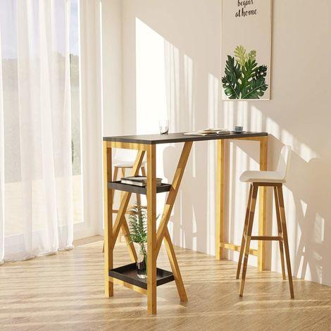 Küchenbar Bartisch Tresentisch Küchentisch mit 2 Stühlen Küchentheke Bistrotisch
