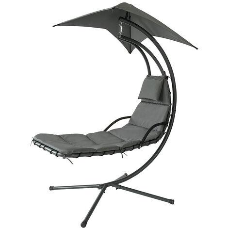 SoBuy Garden Patio Hammock Swing Hammock Swing Chair Sun Lounger Relaxing Chair, OGS39-SG