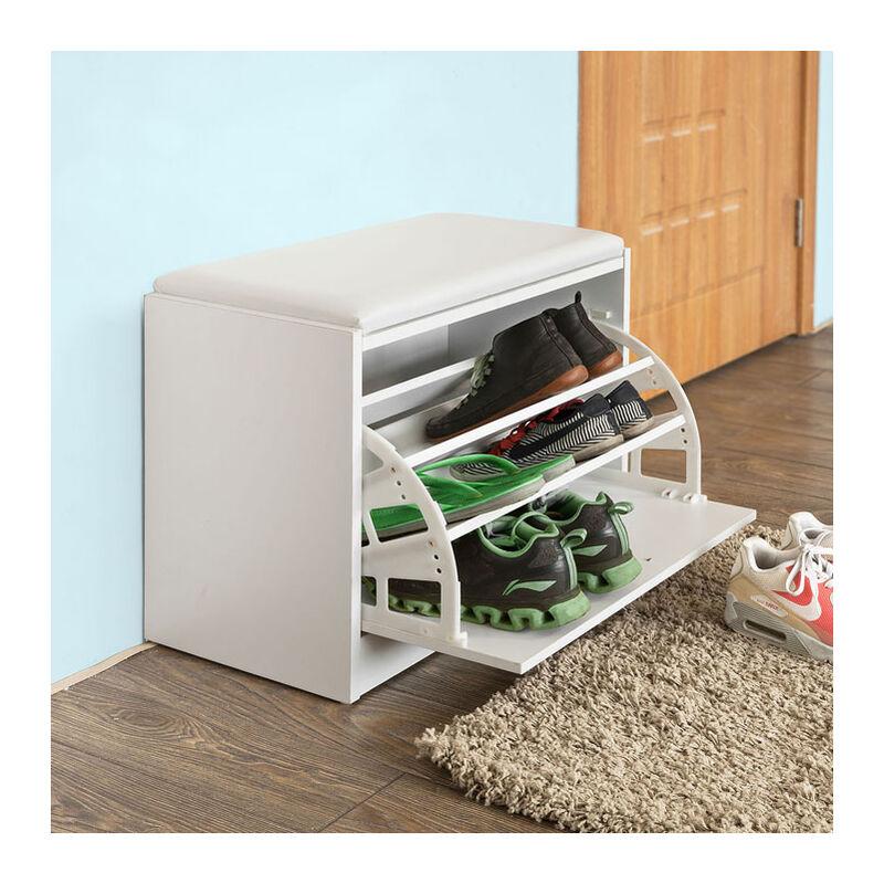 So Hallway Furniture Shoe Storage Cabinet With Wall Mirror Rack Fsr61 W