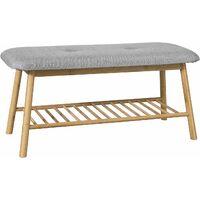 SoBuy Hallway Seat Bench Shoe Rack Bed End Bench with Seat Cushion,FSR24-K-HG