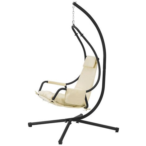 SoBuy Indoor Outdoor Garden Patio Swing Chair Hanging Chair Hammock with Cushion OGS54-MI