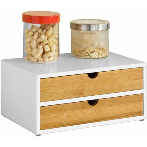 SoBuy Kaffeekapsel Box,Kapselständer mit 2 Schubladen,FRG180-WN