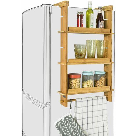 SoBuy KCR03-N Especiero de Cocina,Práctico Organizador de Especias, frigorífico Colgador, 42x10x73 cm,ES