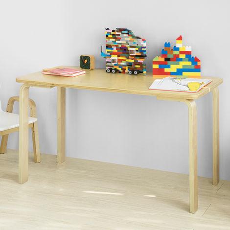 SoBuy Kids Children Table Wooden Rectangle Table, Children Reading Table Dining Table Play Table,KMB23-N