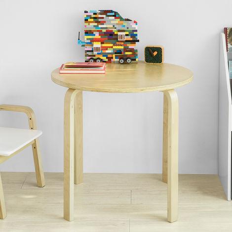 SoBuy Kids Children Table Wooden Round Table, Children Reading Table Dining Table Play Table, KMB21-N