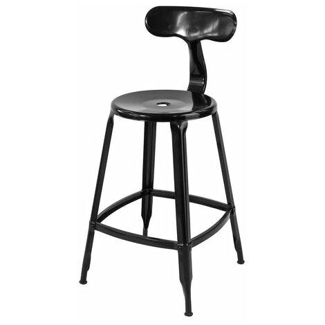 SoBuy Kitchen Breakfast Barstool, Bar Stool Design Duty Metal High Kitchen Chair, FST80-Sch