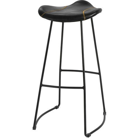 SoBuy Kitchen Breakfast Barstool Bar Stool with PU Leather Padded Seat & Metal Legs,FST81-SCH