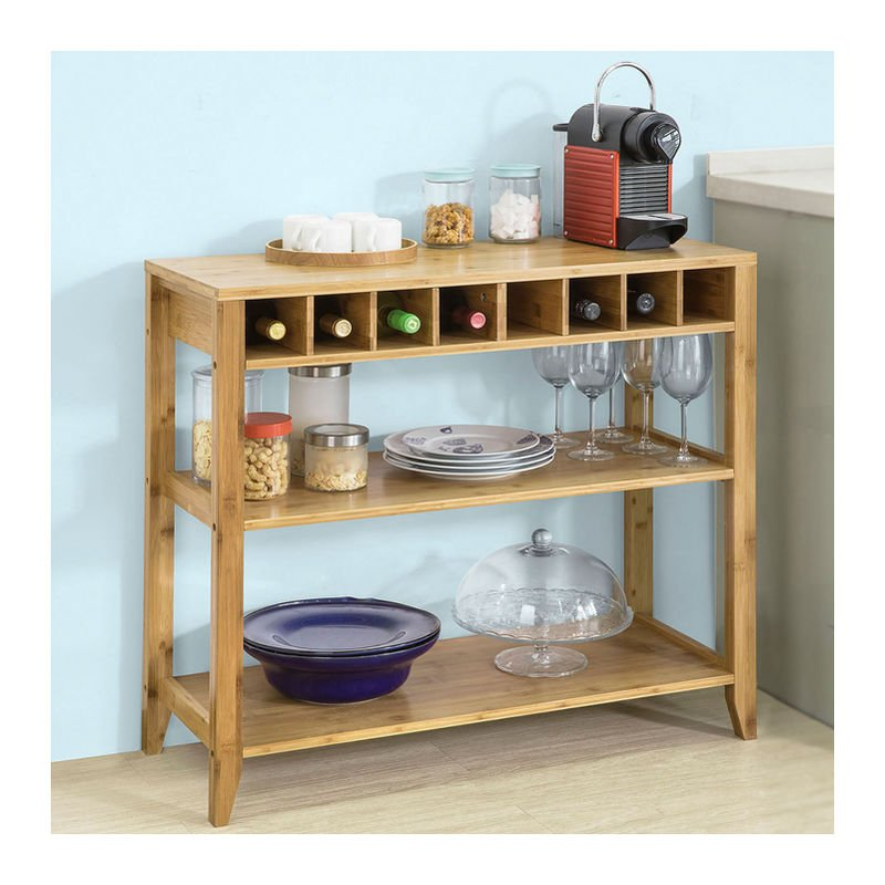 So Kitchen Dining Room Sideboard Table Wine Storage Shelf Cupboard Fsb14 N