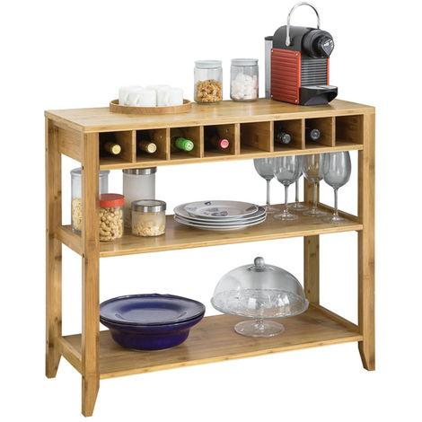 SoBuy Kitchen Dining Room Sideboard Table Wine Storage Shelf Cupboard FSB14-N