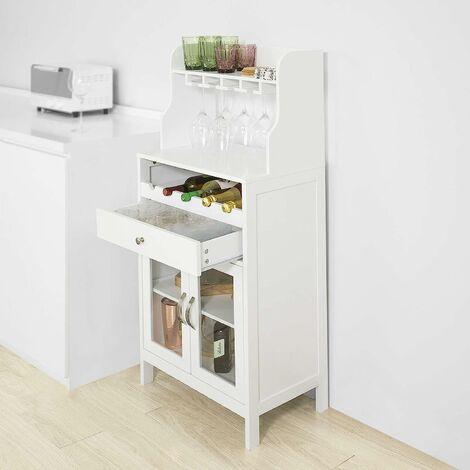 SoBuy Kitchen Dining Room Storage Cabinet Cupboard Sideboard Wine Rack Wine Cabinet,FSB24-W