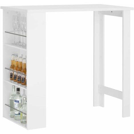 "main image of ""SoBuy Kitchen Dining Coffee Bistro Bar Table & Storage Rack,FWT17-SCH,Black"""