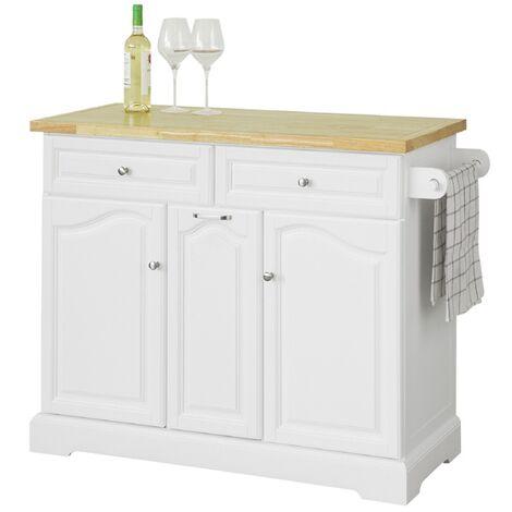 SoBuy Kitchen Storage Trolley Kitchen Cabinet Cupboard Sideboard Kitchen Island,FKW100-WN