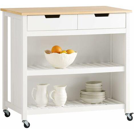 SoBuy Kitchen Storage Trolley Kitchen Storage Shelf Kitchen Breakfast Dining Bar Table,FKW74-SCH