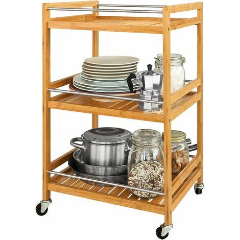 SoBuy Kitchen Storage Trolley, Tea Serving Cart, Bathroom Shelf, FKW11-N