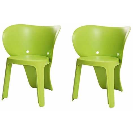 SoBuy KMB12-GRX2,Set de 2 Silla Infantil,Color Verde,con Diseño de Elefante,ES (Verde)