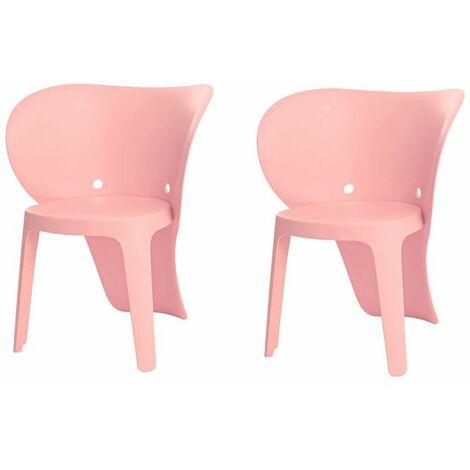 SoBuy KMB12-PX2,Set de 2 Silla Infantil,Color Rosa,con Diseño de Elefante,ES(Rosa)