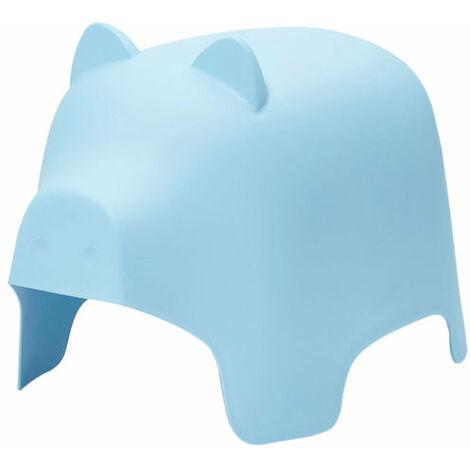 SoBuy KMB14-B,Silla Infantil,Silla para Niños,Color Azul,con Diseño de Cerdo,ES(Azul)