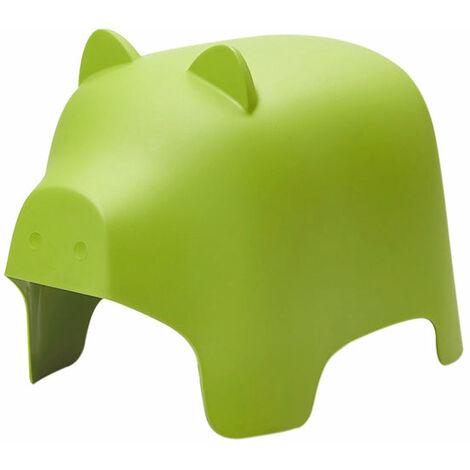 SoBuy KMB14-GR,Silla Infantil,Silla para Niños,Color Verde,con Diseño de Cerdo,ES (Verde)
