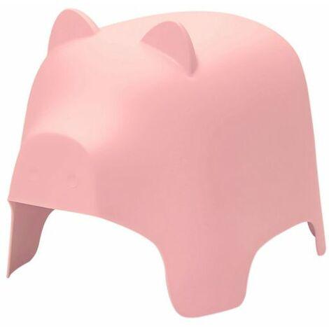 SoBuy KMB14-P,Silla Infantil,Silla para Niños,Color Rosa,con Diseño de Cerdo,ES (Rosa)