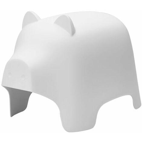 SoBuy KMB14-W,Silla Infantil,Silla para Niños,Color Blanco,con Diseño de Cerdo,ES (Blanco)