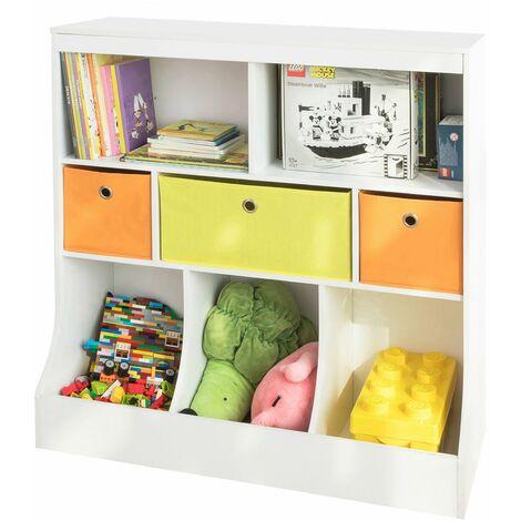 SoBuy KMB26-W Organizador de Juguetes y Libros para Niños Estantería estándar Infantil 92 * 40 * 93 cm ES
