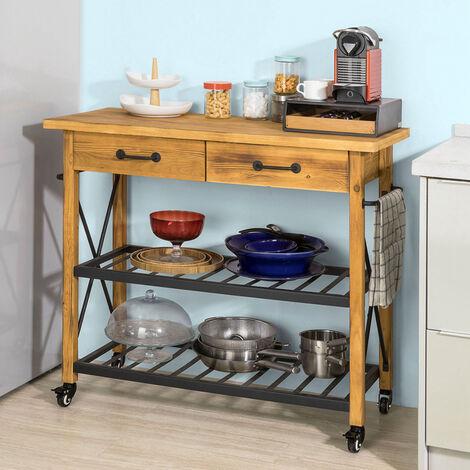 SoBuy Küchenwagen mit Rollen Beistelltisch Küche BHT ca.:106x92x46cm ...