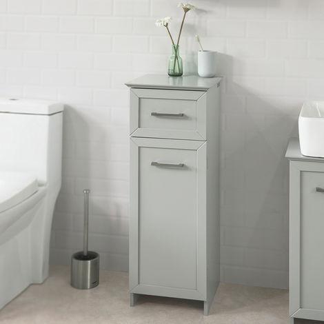 Surprising Sobuy Light Grey Floor Standing Bathroom Storage Cabinet Home Interior And Landscaping Oversignezvosmurscom