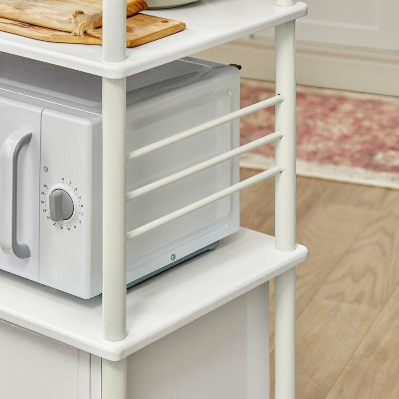 SoBuy mensola per forno a microonde armadietto cucina rosso ...