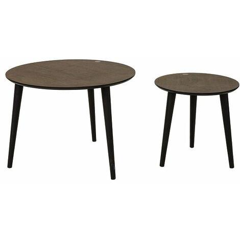 SoBuy® Mesa de café, mesa de cocina, mesa de comedor, mesa de centro, FBT40-BR, ES