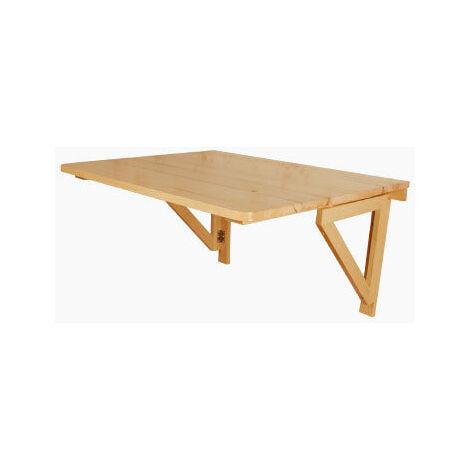 SoBuy® Mesa de cocina, mesa plegable de pared, mesa de madera, mesa de  comedor, mesa de pared, 75x60cm 2 soportes, (sillas no incluidas), FWT05-N  ...