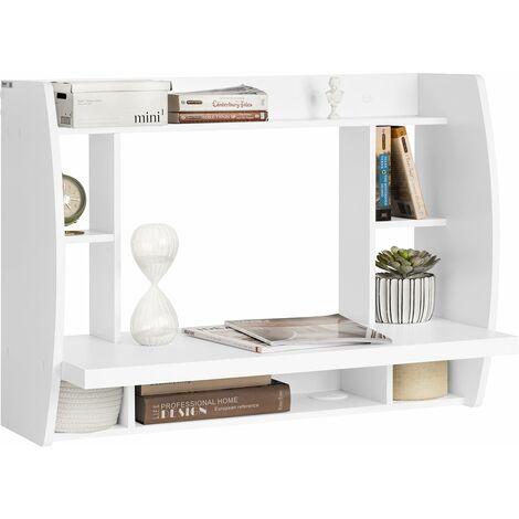 """main image of """"SoBuy® Mesa de ordenador armario de pared, Mesa de escritorio de la computadora tabla, blanco, FWT18-W, ES (Blanco)"""""""