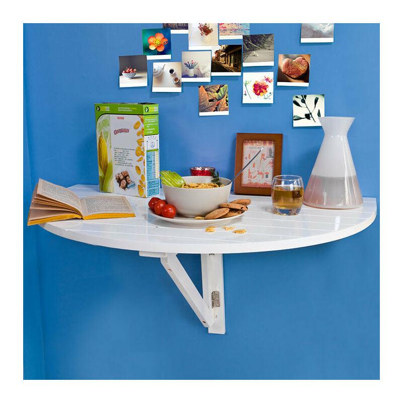 SoBuy Mesa plegable de pared, mesa de cocina, mesa para comer, mueble  infantil de madera, FWT10-W Color: blanco
