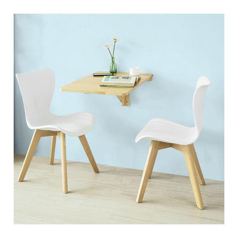 SoBuy ®Mesa plegable de pared, mesa de cocina, mueble infantil, mesa de  pared 70x45cm FWT04-N, (natural)
