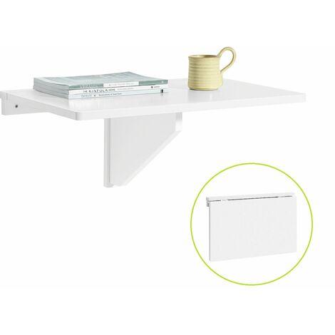 SoBuy® Mesa plegable de pared,mueble infantil,mesa para portátil, mesa para comer, escritorio,FWT03-W.ES
