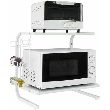 SoBuy Microwave Rack, Kitchen Storage Shelf, Spice Holder Unit, FRG092-W