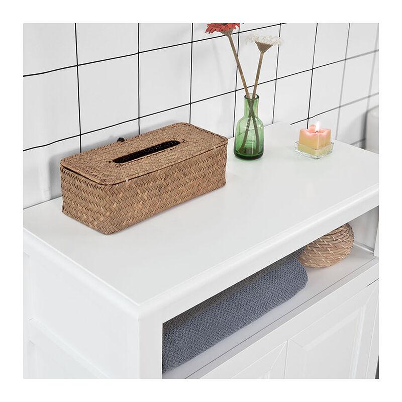 SoBuy Mobiletto base per bagno o Ingresso con due ante credenza FRG204-W,IT