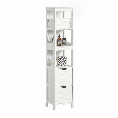 Sobuy mobiletto da bagno di alta mobile a colonna da for Armadietti per bagno