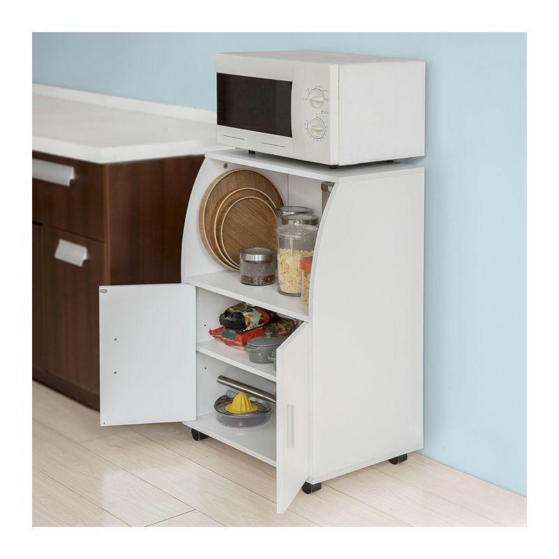 SoBuy Mobiletto per Forno a microonde,Carrello da cucina,credenza,FRG241-W