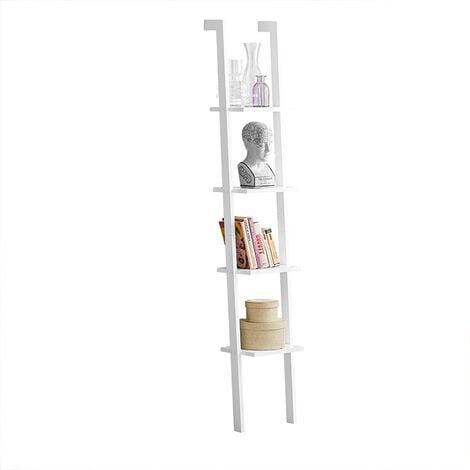 SoBuy Modern 4 Tiers Display Storage Wood Wall Shelf, FRG15-W