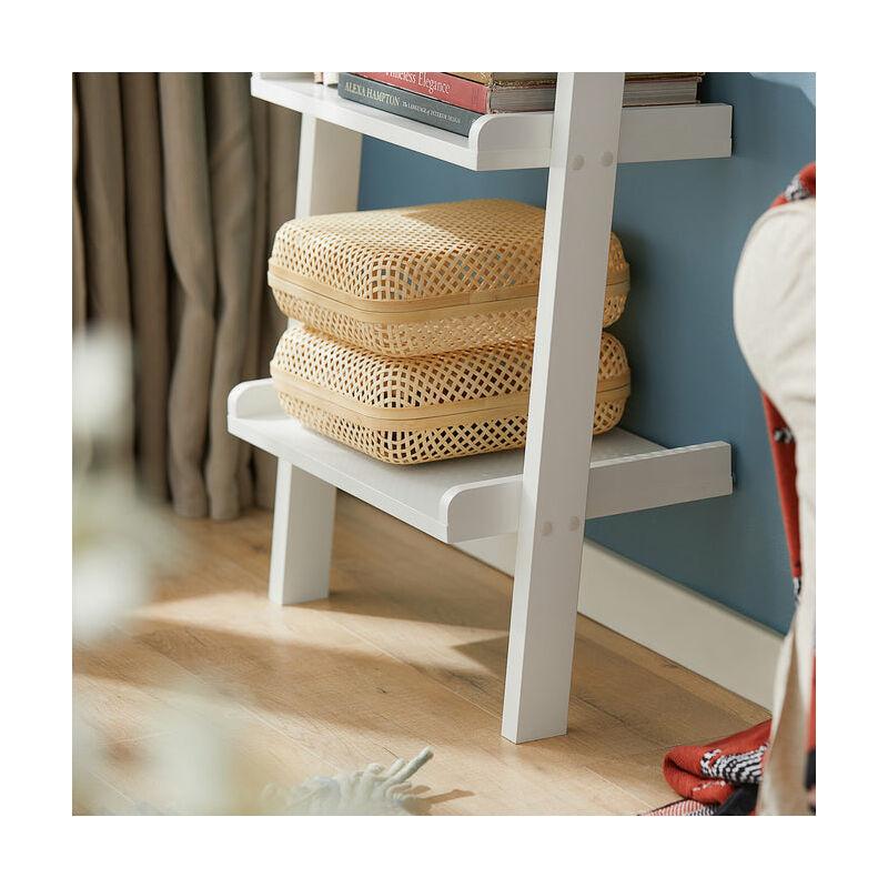SoBuy Moderna Estanter/ía Escalera con Cinco Estantes en Color Blanco,FRG17-W,ES