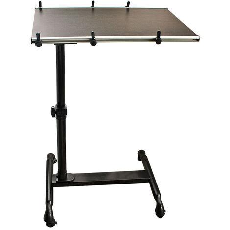 SoBuy Nursing Home Bed Sofa Side Table,FBT07N-BR,Brown