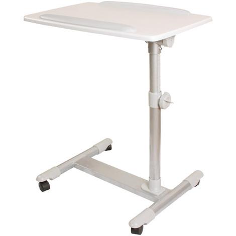SoBuy Nursing Home Bed Sofa Side Table,FBT07N2-W, White