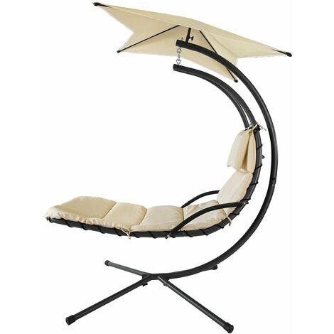 SoBuy OGS39 Tumbona Colgante con toldo sillón balancín jardín,ES