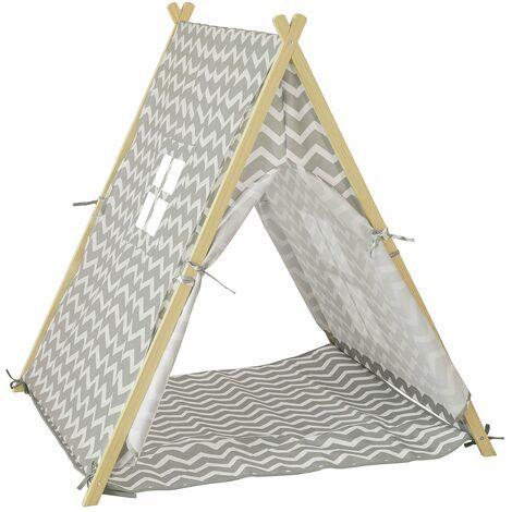 SoBuy OSS02-HG Tienda de campaña Infantil, Tienda Tipi - Tienda de campaña Interior para niños,ES (Gris)