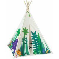 SoBuy OSS03-F Tipi niños - Tienda de campaña Infantil con Puerta y Ventana,ES