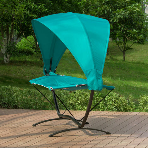 SoBuy Outdoor Garden Patio Hammock Swing Chair Sun Lounger with Sun Shade,OGS51-TB