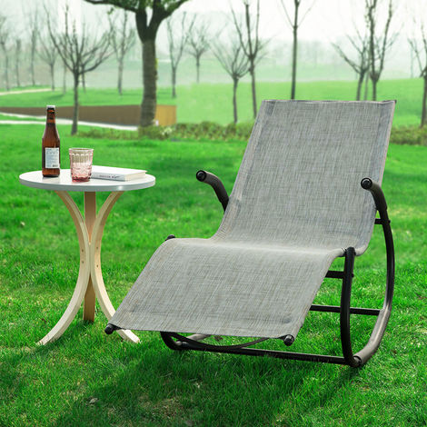 SoBuy Outdoor Patio Garden Rocking Arm Chair Recliner Sun Lounger OGS41-MS