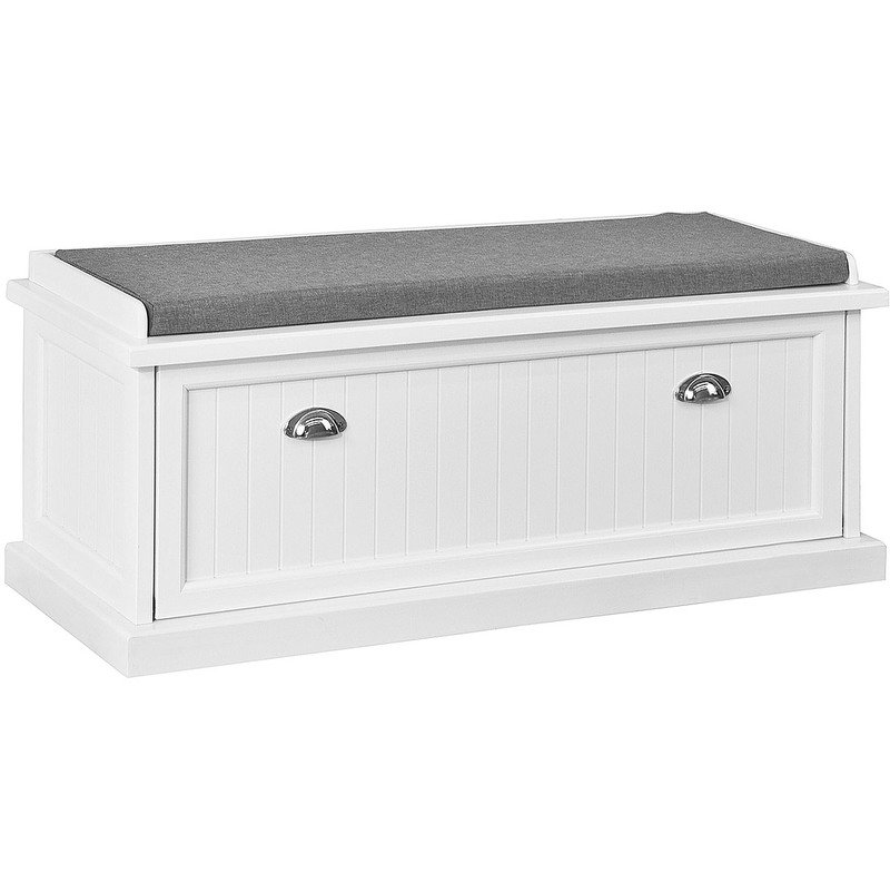 SoBuy Padded Hallway Shoe Storage Bench, Entryway Seat Organizer, FSR41-W