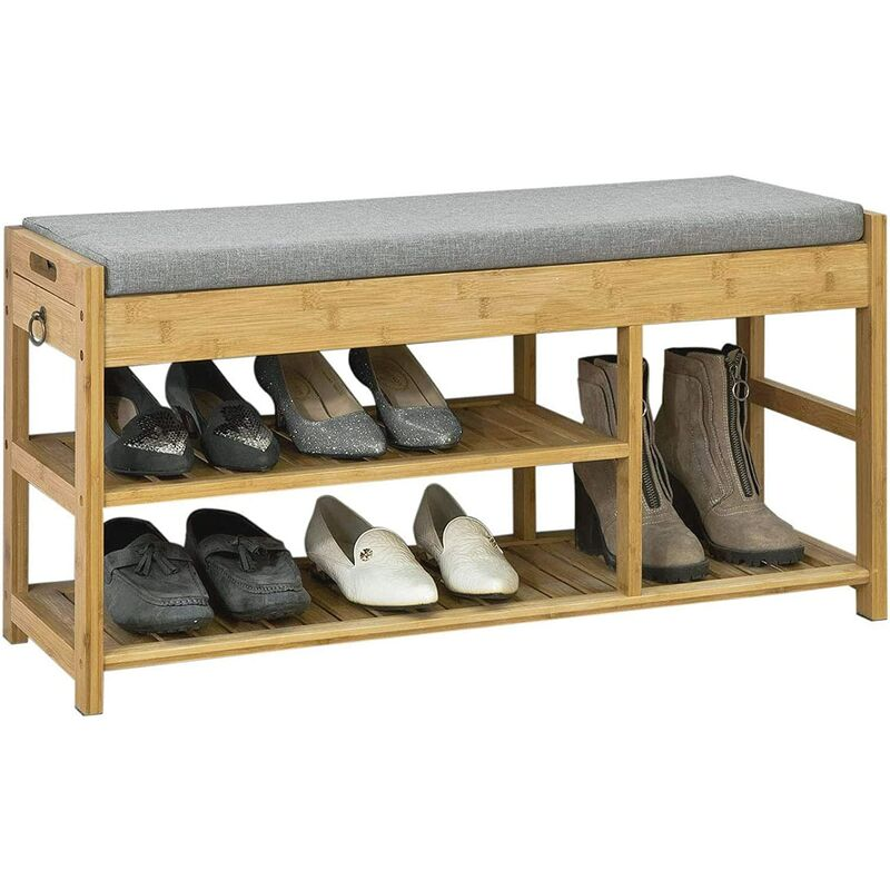 So Padded Hallway Shoe Storage Rack Bench With E Fsr47 N